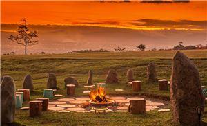 Kinkara Luxury Retreat Santa Elena, San Jose - Pozo de fuego de Kinkara al atardecer