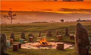 Kinkara Luxury Retreat Santa Elena, San Jose - Kinkara Fire Pit at Sundown