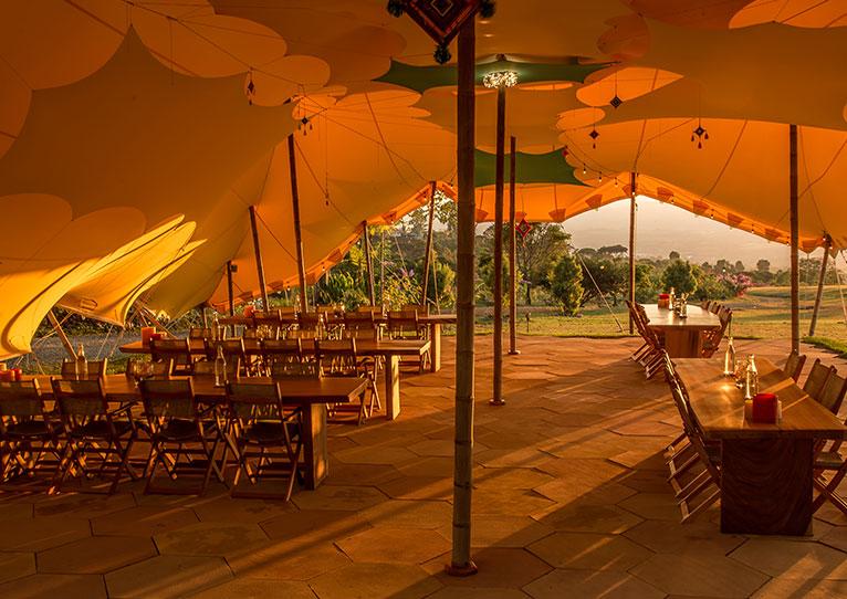 Conference & Dining Tent at Kinkara Santa Elena, San Jose