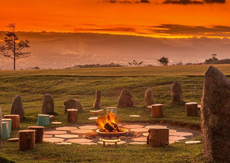 Fire Pit at Kinkara Santa Elena, San Jose